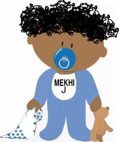 African American Clip Art Free   African-american Baby Boy