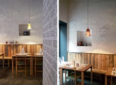 In Milan, the neighborhood of Navigli, hosts the restaurant 28 Posti, that asserts itself silently.