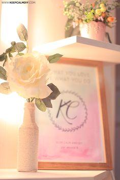 Garrafas de barbante: simplicidade com uma pegada romântica...