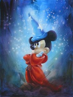 Fantasia - The Spell - Sorcerer Mickey Mouse - John Rowe - World-Wide-Art.com