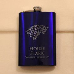 Game of Thrones 8 oz Blue House Stark Flask by EmporiumOfFluff, $20.00