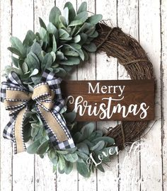 Christmas farmhouse wreath Christmas wreath farmhouse decor Grapevine wreath Buffalo plaid wreath Lambs ear wreath Welcome wreath Grapevine wreaths Christmas Wreaths To Make, Blue Christmas, Holiday Wreaths, Rustic Christmas, Christmas Holidays, Christmas Crafts, Christmas Decorations, Winter Wreaths, Etsy Christmas