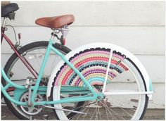 beach cruiser with crochet accessories