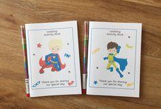A6 SUPERBOY Superhero Inspired Childrens Kids Wedding Activity