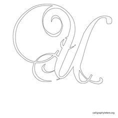 Calligraphy Letter Stencil U