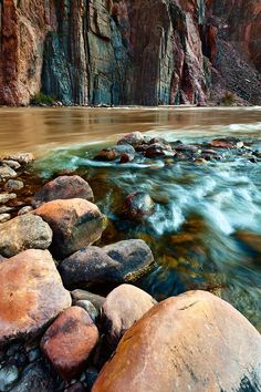 The confluence of Bright Angel Creek and the Colorado River. Grand Canyon National Park, Arizona. Photo by Adam Schallau