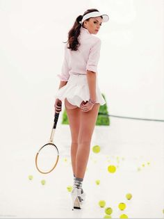 """""""Game, Set, Love"""": Valerie Weigmann by Mark Nicdao for Rogue Magazine"""