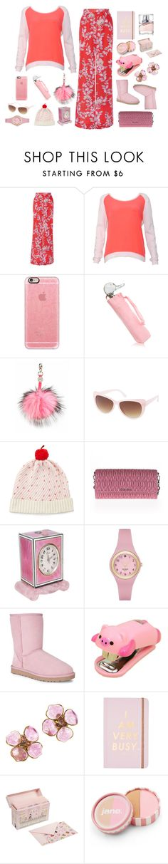 """Climbs Apple Trees"" by jakenpink ❤ liked on Polyvore featuring Johanna Ortiz, Sandro, Casetify, Furla, Charlotte Simone, Charlotte Russe, Kate Spade, Miu Miu, UGG Australia and Chanel"