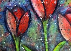 Craft Attitude - Mixed Media Painted Tulips