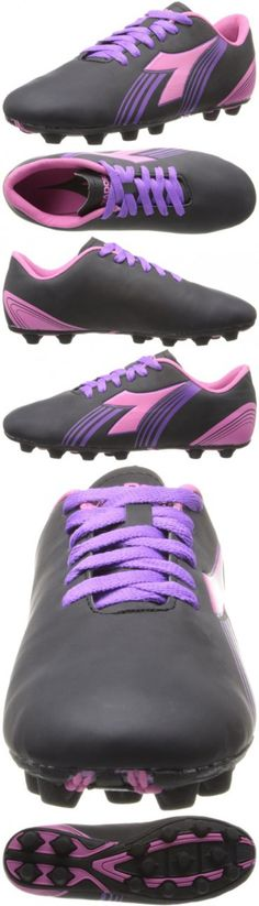 613883330aec Diadora Soccer Avanti MD JR Soccer Shoe (Toddler/Little Kid/Big Kid),Black/Pink/Purple,5.5  M US Big Kid