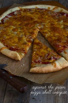 Against the Grain Gluten Free Pizza Shell Copycat Recipe: Three cheeses baked ri Pizza Sans Gluten, Gluten Free Pizza, Gluten Free Cooking, Dairy Free, Grain Free, Nut Free, Copycat Recipes, Gluten Free Recipes, Low Carb Recipes