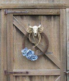 Western Wreath Western Decor Rustic Barbwire Wreath by ThrownTogether