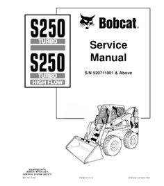 BOBCAT S220 SKID STEER LOADER SERIES SERVICE REPAIR MANUAL