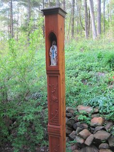 outdoor catholic shrine | pillar-style shrine inspired by European originals but designed by ...