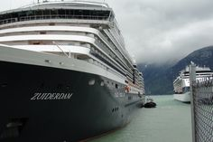 Zuiderdam waiting for us in Skagway, AK.