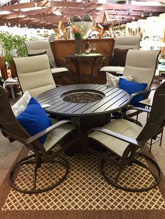 57 best patio showroom images chair swing dining room sets rh pinterest com