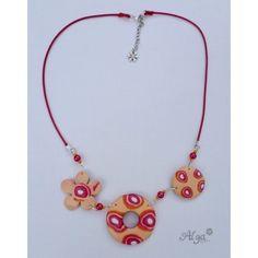 Fimo necklace / Náhrdelník Verano světlý