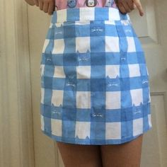f9cfdfba Authentic NWOT Lazy Oaf cat gingham pencil skirt ! This sadly is too big  for me. Depop