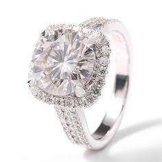 Find More Rings Information about Luxury 5 Carat ct F Color Lab Grown Moissanite…