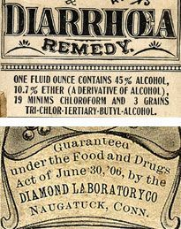 Top: Chamberlain's Colic and Diarrhea Remedy ; Bottom: May's Health Pearls - Early 1900s