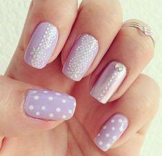 lace nail art - 45+ Lace Nail Designs