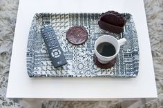 Check out http://brightnest.com tomorrow to see how we made this gorgeous #DIY serving tray!