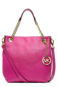 MICHAEL Michael Kors 'Jet Set - Medium' Chain Shoulder Tote in cognac available at #Nordstrom
