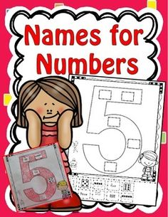 "I created this set of ""names for numbers"" printables so that my kindergarten students can learn to recognize several ways to make numbers. This set includes a names for numbers printable for each number 1-10. This would make a great math center!"