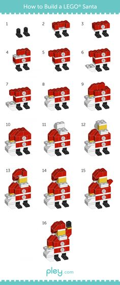 Games Infographics : Illustration Description Pley reveals how to build a LEGO snowman, Christmas Tree and Santa Claus. Pley is the leading online toy rental service specializing in LEGO and other cool, unique toys. Santa Claus Christmas Tree, Kids Christmas, Christmas Crafts, Santa Clause, Christmas Stuff, Lego Activities, Christmas Activities, Lego Duplo, Legos