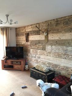 Scaffold board wall