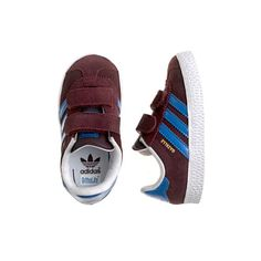 Kids' junior Adidas® gazelle sneakers in burgundy
