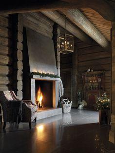 8 Simple and Impressive Tricks: Attic Room Blue attic renovation design.Attic Home Pictures attic lighting barns. Attic Renovation, Attic Remodel, Cabin Homes, Log Homes, Wooden Cabins, Log Cabins, Cabin Fever, Fireplace Design, Simple Fireplace