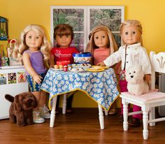 Dolly Dorm Diaries ~ National Peanut Butter Day for our American Girl dolls!