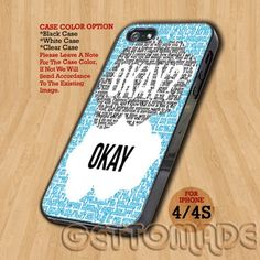 The fault in our star - Print On Hard Case iPhone 4/4S Case | GetToMade - Accessories on ArtFire