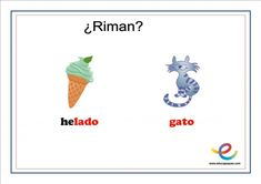 Fichas de lenguaje para primaria: ¿Qué rima con? Playing Cards, Movie Posters, Speech Pathology, Children Rhymes, Note Cards, Lyrics, Playing Card Games, Film Poster, Game Cards