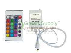 IR Receiver Controller for Color Changing Flexible LED Strip Light Kit Recessed Ceiling Lights, Kitchen Ceiling Lights, Led String Lights, Kitchen Lighting, Flexible Led Strip Lights, Led Christmas Lights, Strip Lighting, Color Change, Flexibility