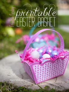 Paper and Cake | Freebie Friday: Printable Easter Basket | http://www.paperandcake.com