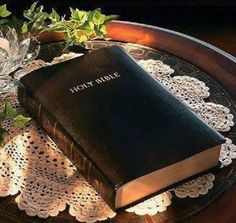 ♥ I can't live without my Bible.  God's Word gives me strength for the day and hope for tomorrow.  He is in control...Thank you Father!