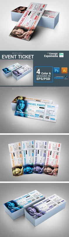 Event Ticket Template PSD, Vector EPS. Download here: http://graphicriver.net/item/event-ticket/16107652?ref=ksioks