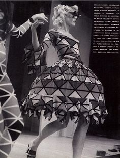 Dress by Sonia Delaunay. Photo by Bill Cunningham. Vogue Italia, September 1989.