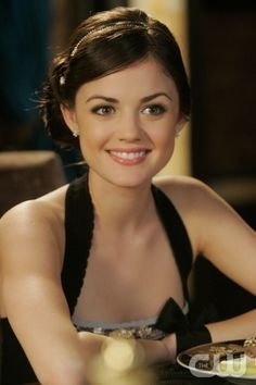 Clara (lucy hale) But Clara dyes her hair different colors all the time--pink, blue, etc.
