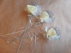 little wands for the flower girls using white roses and feathers Flower Girl Wand, Flower Girls, Floral Wedding, Wedding Flowers, Flower Ideas, Floral Crown, White Roses, Wedding Accessories, Wands