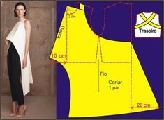 The mullete top, pattern instructions: Techniques Couture, Sewing Techniques, Diy Clothing, Sewing Clothes, Dress Sewing Patterns, Clothing Patterns, Fashion Sewing, Diy Fashion, Sewing Hacks