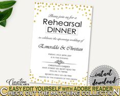 Rehearsal Dinner Invitation Bridal Shower Rehearsal Dinner Invitation Confetti Bridal Shower Rehearsal Dinner Invitation Bridal Shower CZXE5 - Digital Product #bridalshower #bridetobe