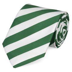 Krawatte grün weiß gestreift von Fabio Farini