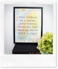 thinking of decorating my boys' room in a vintage world traveler theme... this would be perfect!