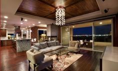 Mira Villa located in Summerlin, Nevada. Note the beautiful view of the Las Vegas Strip!