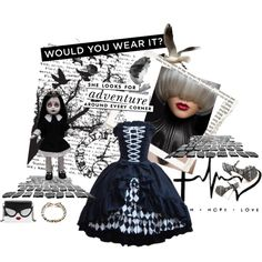 Designer Clothes, Shoes & Bags for Women Hope Love, Black N White, Alice Olivia, Jay, Kiss, Kate Spade, Adventure, Shoe Bag, Polyvore