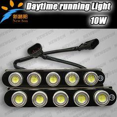 52.99$  Buy now - E4 CE approved high power led car/auto drl daytime running lights  5LEDS 10W LED Driving Light, Fog Light  #magazine