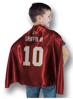 Be a hero with this officially licensed Washington Redskins RGIII Superhero Cape!